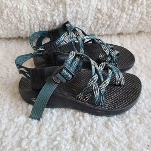 Chaco ZX2 Teal Strappy Sandals sz 5